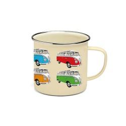 Tasse émaillé avec 4 Combi VW multicolores 500 ml