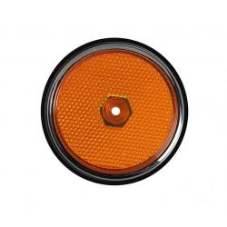 Lentille de côté avant avec joint Combi de 1968 à 1970 orange chromé