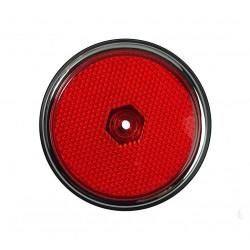 Lentille de côté arrière avec joint Combi de 1968 à 1970 rouge chromé
