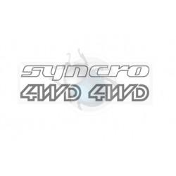 Autocollants syncro 4WD argent 3 pièces
