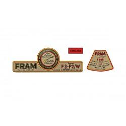 Flat4 autocollant pour kit filtre d'huile style fram