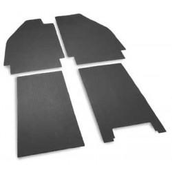 Kit caoutchouc de sol avant et arrière de 1950 à 1955 et clips