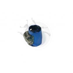 Raccord aviation bleu pour tuyau essence renforcé