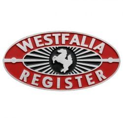 Plaque tableau de bord Westfalia Register rouge/noir