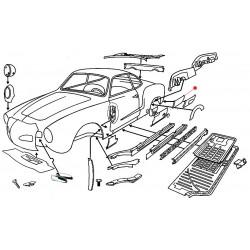 Coin aile arrière droite Karmann-Ghia jusqu'en 1971