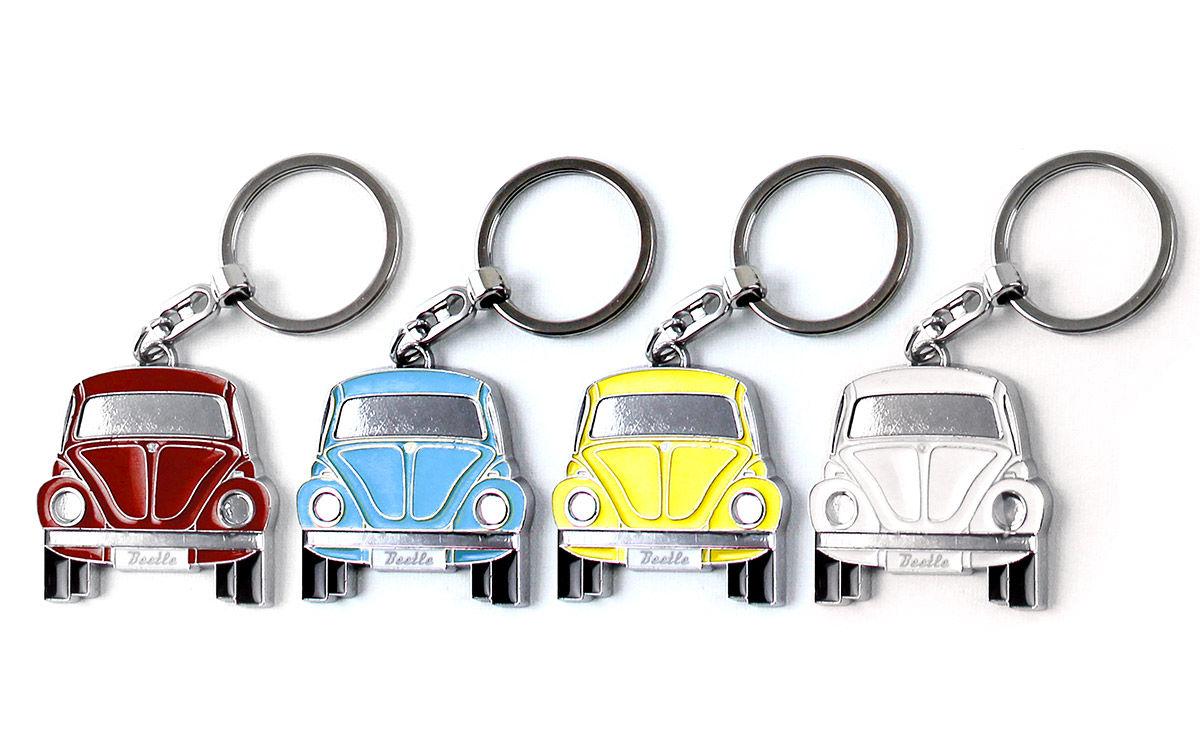 Portes-clés avec design de la légendaire VW Coccinelle rouge