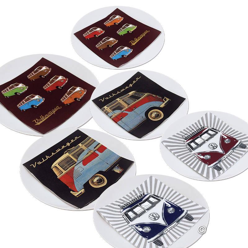 Serviettes de table en papier avec motifs Samba & Beetle paquet de 20