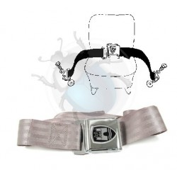Ceinture ventrale grise et chrome Wolfsburgwest