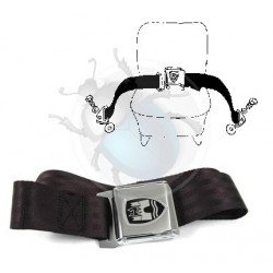 Ceinture ventrale noire et chrome Wolfsburgwest