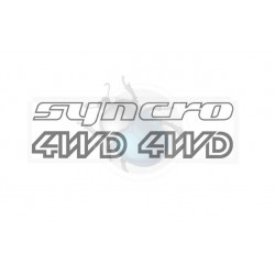 Autocollants anthracite SYNCRO 4WD