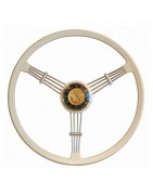 Steering wheel for beetle origin or sport in wood or leather
